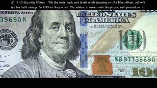 United States New $100 bill - Security Features