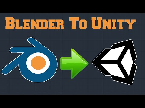 How To Import Blender 2.8 To Unity?