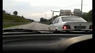 Proton Wira 4G93 NA Std 180+km/h + Crazy BMW Driver ! ! ! !