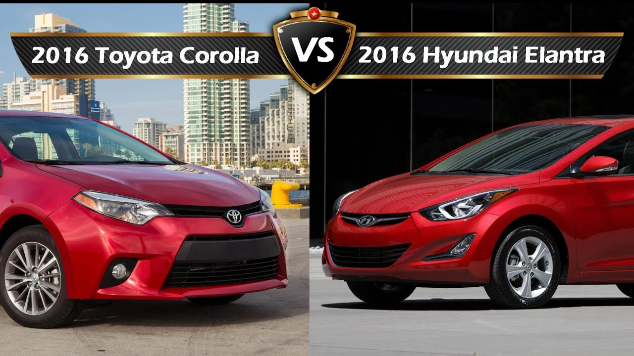 2016 Toyota Corolla Vs Hyundai Elantra By The Numbers