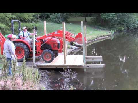 How to Build a Boat Dock Pier with Kubota L3301 HST Diesel Tractor Part 2