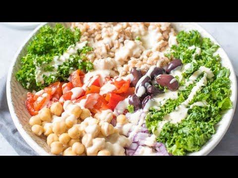 Vegan Mediterranean Farro Bowls