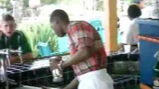 Nicholas makes a banana daiquiri in Jamaica