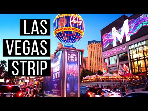 Driving Las Vegas Strip At Night | Las Vegas Entertainment Capital Of The World