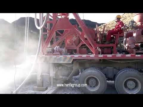 HFC400 truck mounted water well drilling rig at construction site
