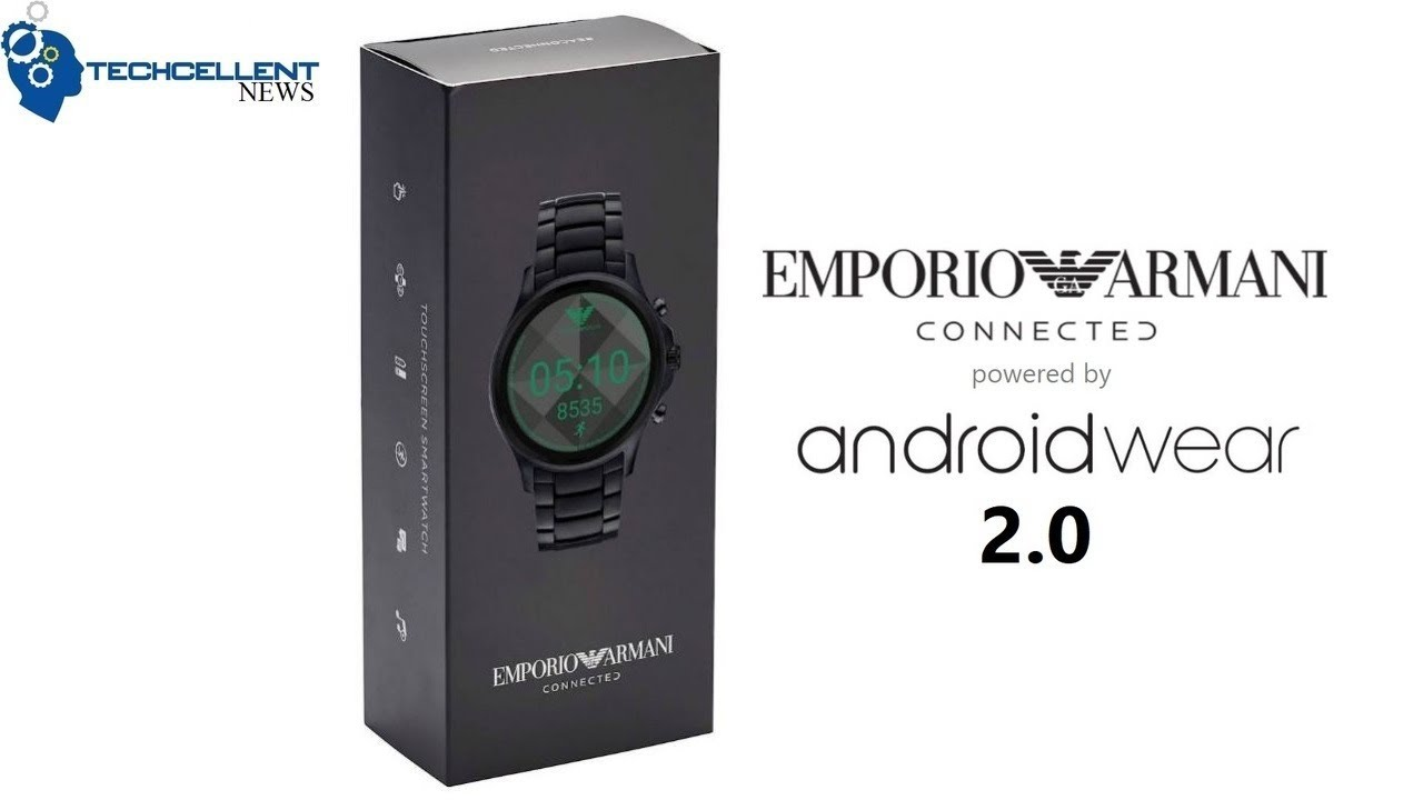 EMPORIO ARMANI ANDROID WEAR CONNECTED SMARTWATCH UNBOXING ...