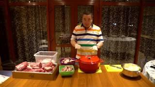 Мясо в красном вине