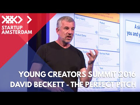 How to give the perfect pitch - with TedX speech coach David Beckett - Young Creators Summit 2016