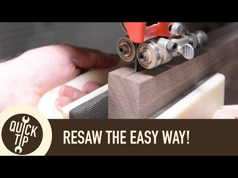 Resaw on the Bandsaw Without Gadgets