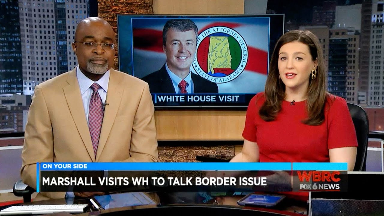 WBRC FOX6 News Report on Attorney General Steve Marshall's Meeting with  President Trump on Border