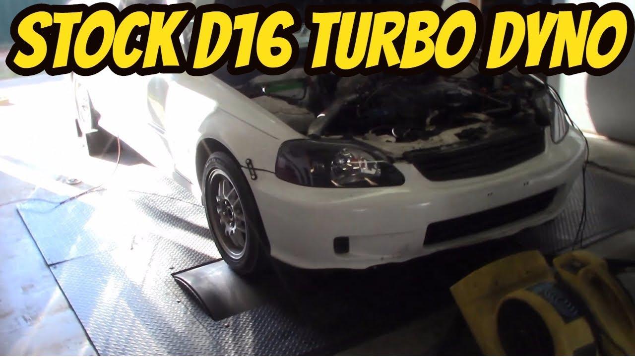 Stock Block Ebay Turbo EK Civic Back to the dyno for more Power!