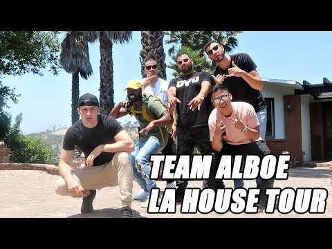 NEW TEAM ALBOE LA HOUSE TOUR!! (HOLLYWOOD)