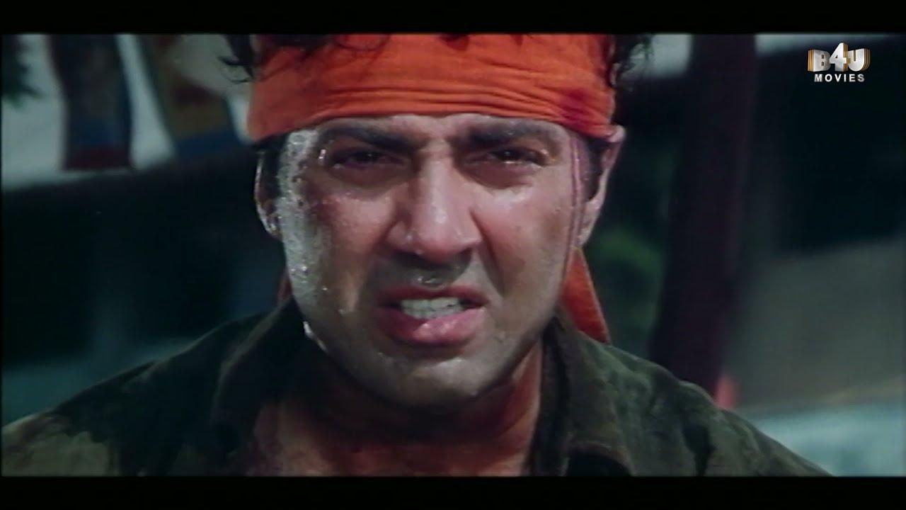 Sunny Deol's Fighting Scene   Sunny Deol, Meenakshi, Mamta Kulkarni   Ghatak
