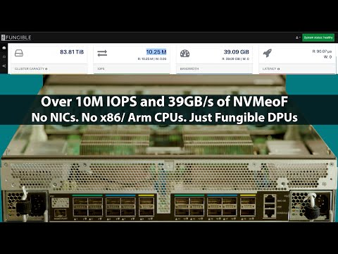 Fungible F1 DPU Powered Storage Hands-on at Fungible HQ