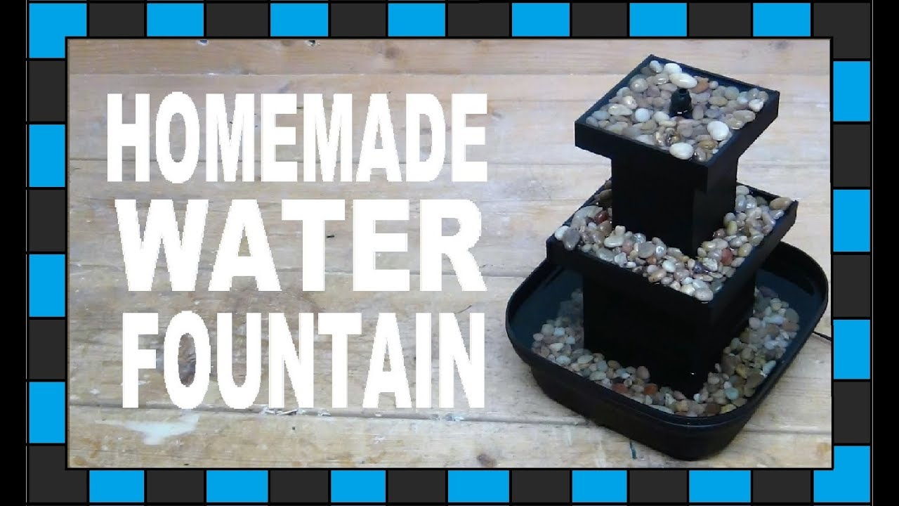How To Build A Tabletop Water Fountain!   YouTube