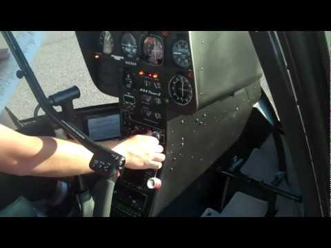 Helicopter Lesson : Startup R44 Helicopter