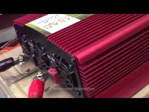 Solar Powered Refrigerator Freezer with OSP Tiger Claw Pure Sine Wave Inverter