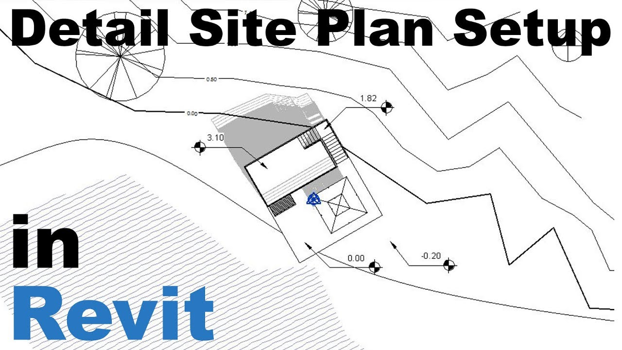 detailed site plan setup in revit tutorial