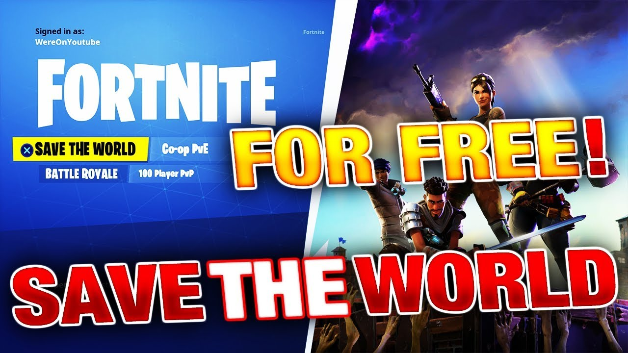 when will fortnite save the world be free