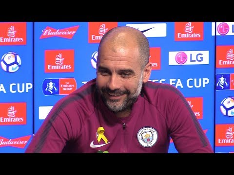 Pep Guardiola Pre-Match Press Conference - Wigan v Manchester City - FA Cup - Embargo Extras