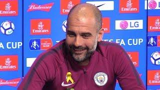 Pep Guardiola Pre-Match Press Conference - Wigan v Manchester City - FA Cup - Embargo Extras