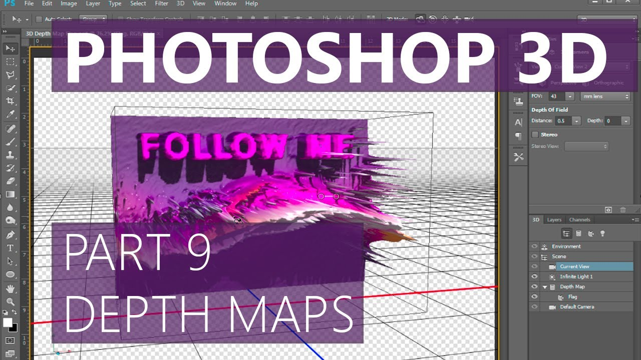 Photoshop 3D Depth Maps - Mike Hoffman