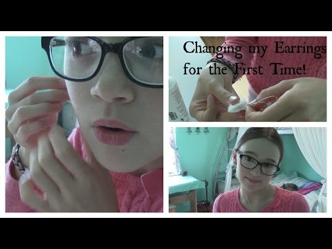 Changing My Earrings For The First Time (Tips) | Fiona's Fresh Face | Fiona Frills