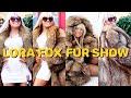 LORA FOX FUR SHOW 👀 Fur coat try-on