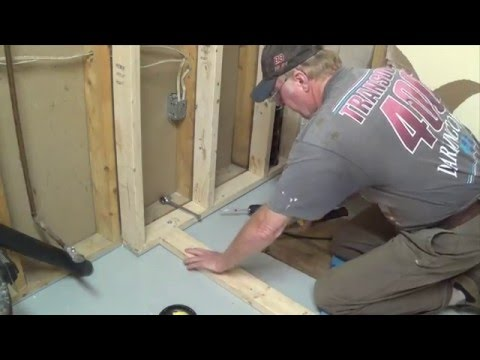 DIY Basement Bathroom Part 1 - Shower Stall Frame & Drain