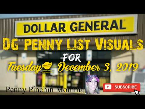 Dollar General Visual Penny List For Tuesday; December 3, 2019