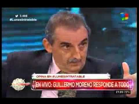 Guillermo Moreno en Intratables