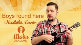 boys round here ukulele cover blake shelton cigarbox guitar