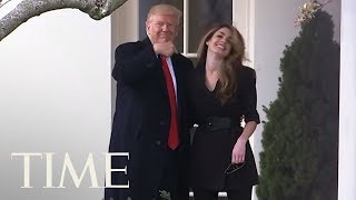See The Moment Hope Hicks Said Goodbye To President Trump At The White House | TIME