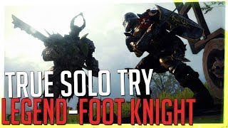 TRUE SOLO Legend Attempt #1, Foot Knight - Righteous Stand (Vermintide 2)