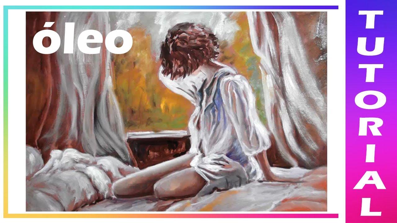 Como Pintar En óleo Mujer Paso A Paso Con Efecto Anticerne Youtube