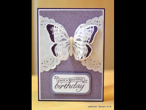 Triple Layer Vellum Butterfly Wings - JanB UK Stampin' Up! Demonstrator Independent