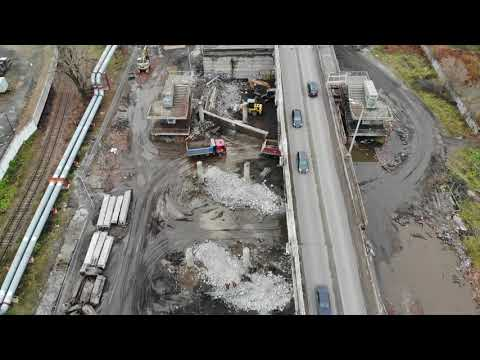 Видео с дрона. Добрынинский мост ремонтные работы.