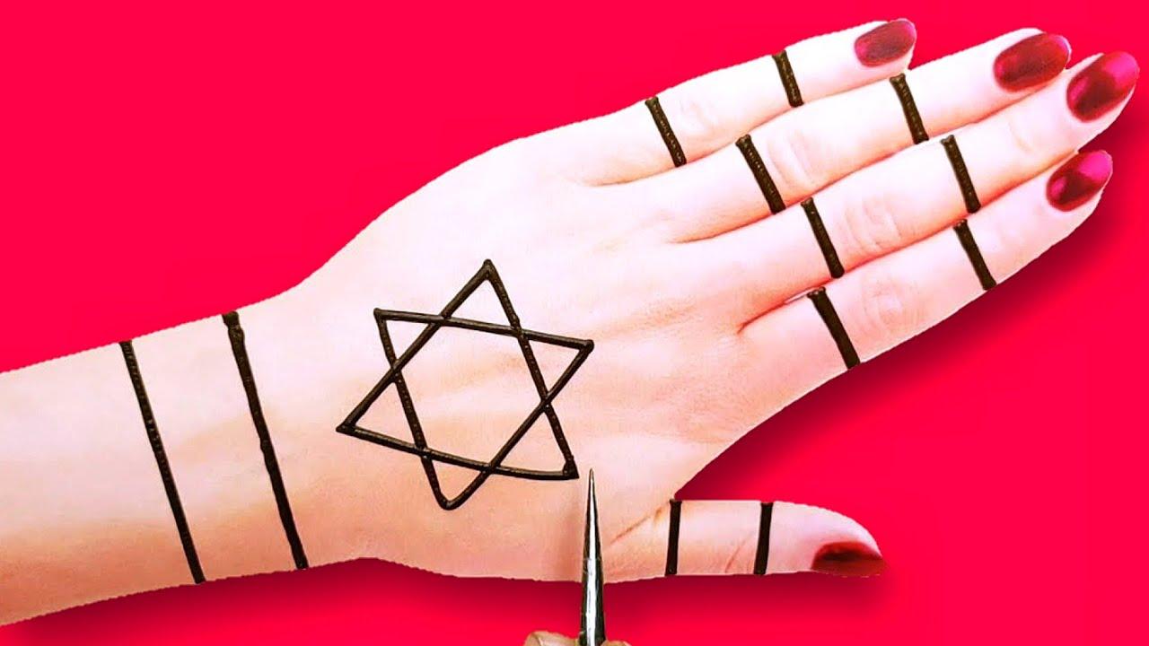 Download very easy back hand Arabic mehndi design-beautiful henna mehndi design-mehndi design for beginners