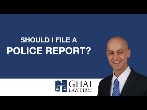Should I File a Police Report?