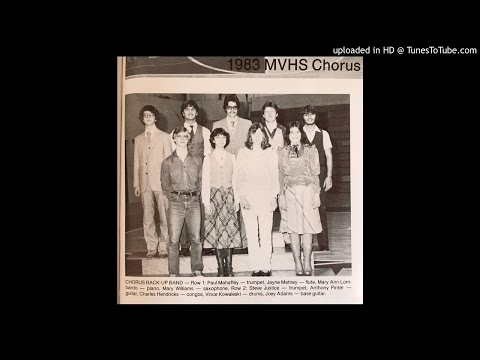 1983 chorus and backup band Mount View High School