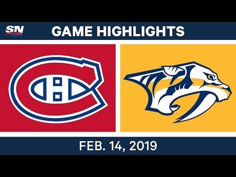 NHL Highlights | Canadiens vs. Predators - Feb 14, 2019