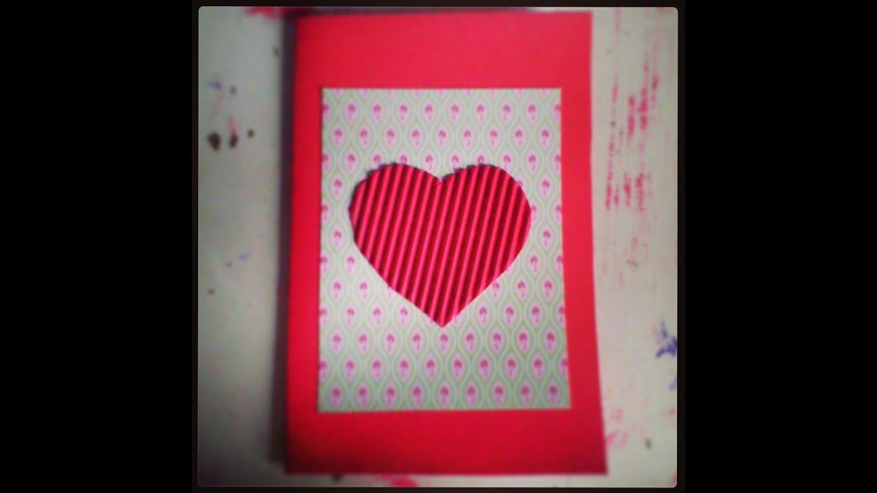DIY Postal San Valent n DIY Valentines day postcard YouTube – Valentines Day Post Card