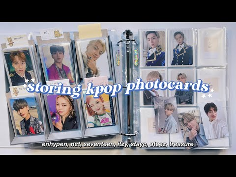 Organizing + Storing New Kpop Photocards In My Binder #14 ✰ Enhypen, Nct, Seventeen, Itzy U0026 More !