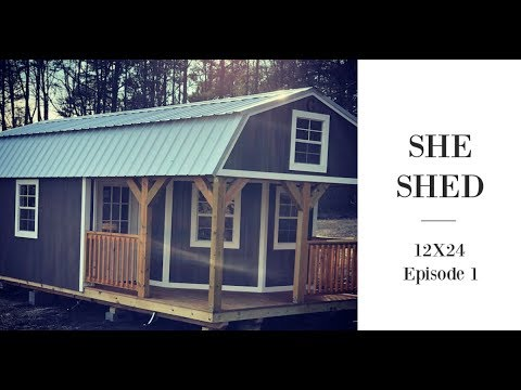 WRAPAROUND PORCH LOFTED BARN CABIN 12×24 | DIY SHE SHED
