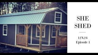 Wraparound Porch Lofted Barn Cabin 12x24 | Diy She Shed