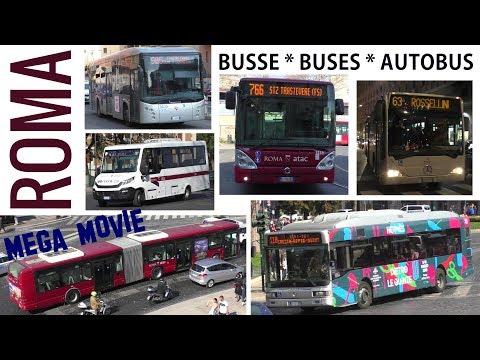 ROMA Busse - Buses - Autobus 2019 MEGA MOVIE - BredaMenarinibus - IVECO - Mercedes-Benz