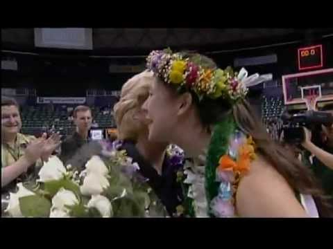 2012 Hawaii Rainbow Wahine senior night