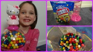 "Hello Kitty Gumball Machine ""Double Bubble Gum"" Messy Filling Annabelle"