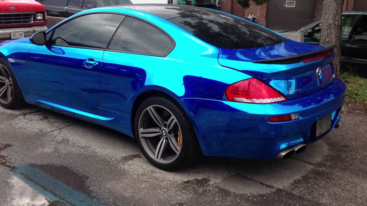 Blue Chrome Bmw M6 By Restyle It Wrapped To Perfection