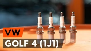 How to change spark plug on VW GOLF 4 (1J1) [TUTORIAL AUTODOC]
